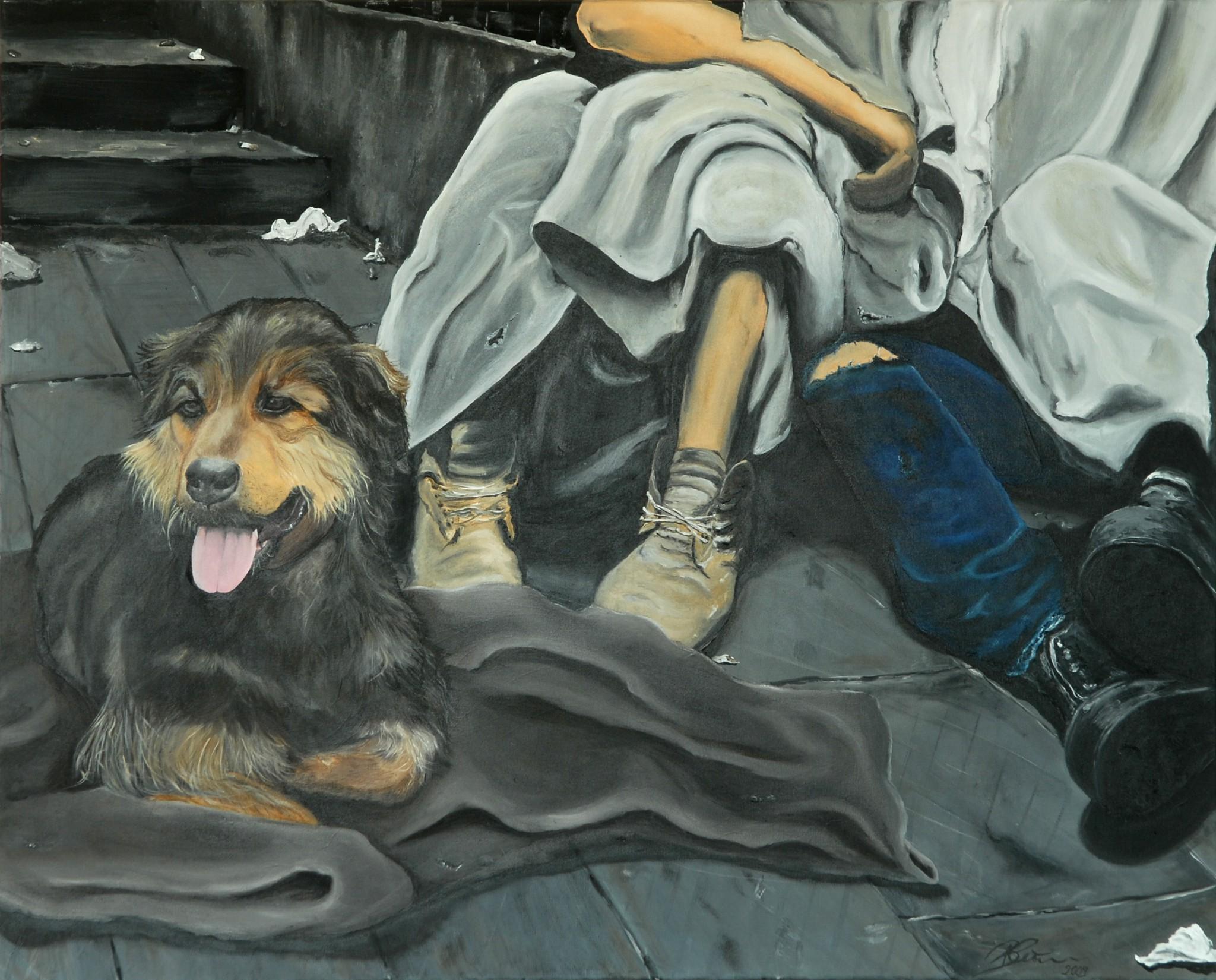 Underdogs, 2009, Öl/Acryl/Leinwand, 100 x 80 cm