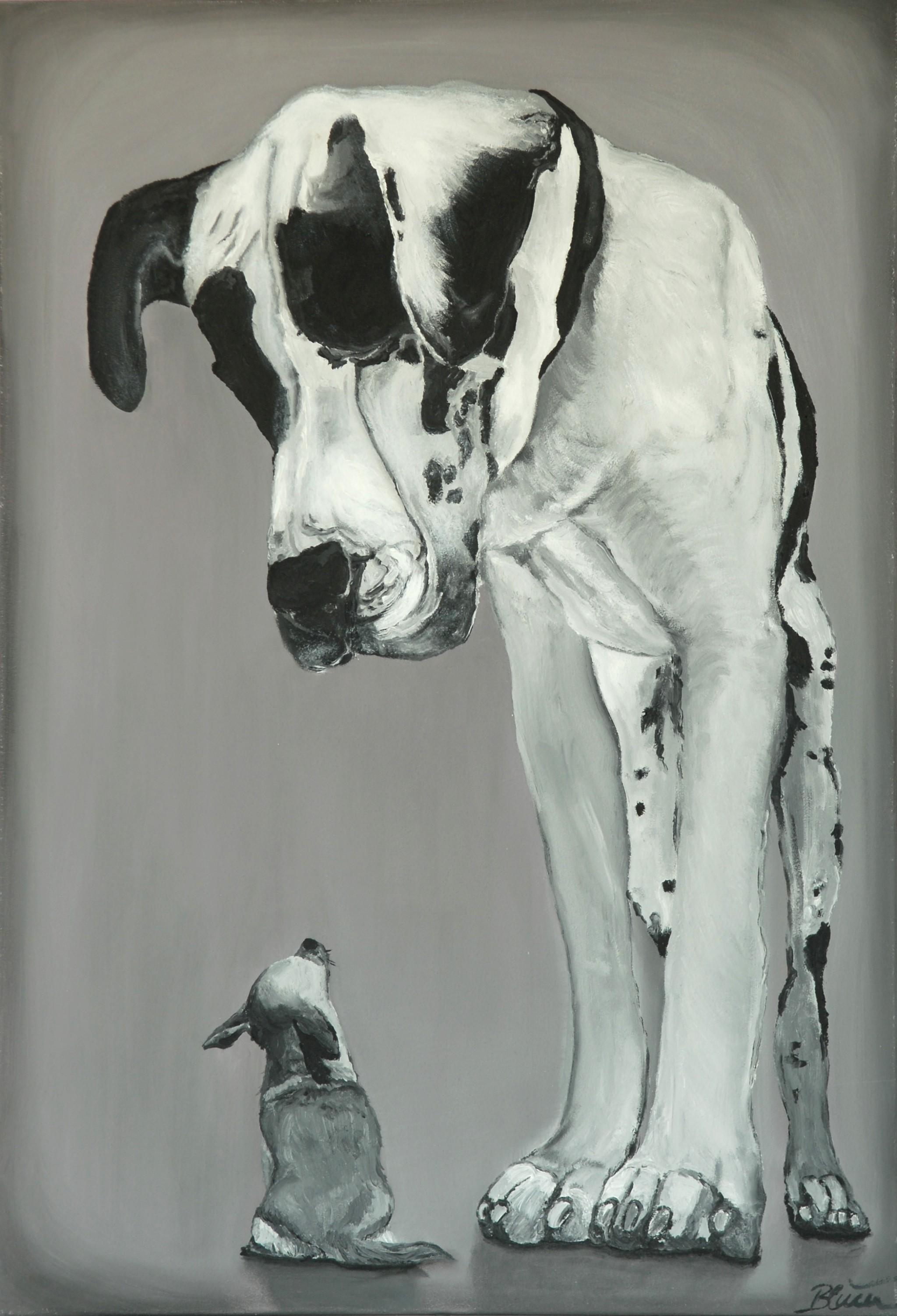 Friends, 2013, Öl/Leinwand, 100 x 70 cm