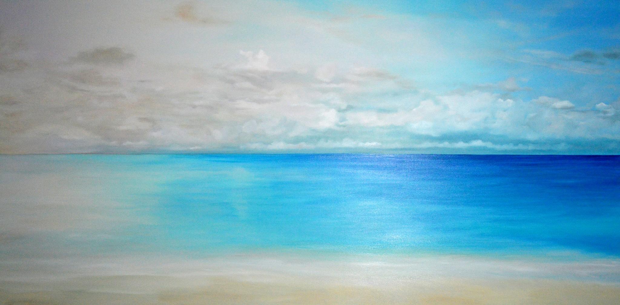 Horizont, Öl auf Leinwand, 200cm x 100cm