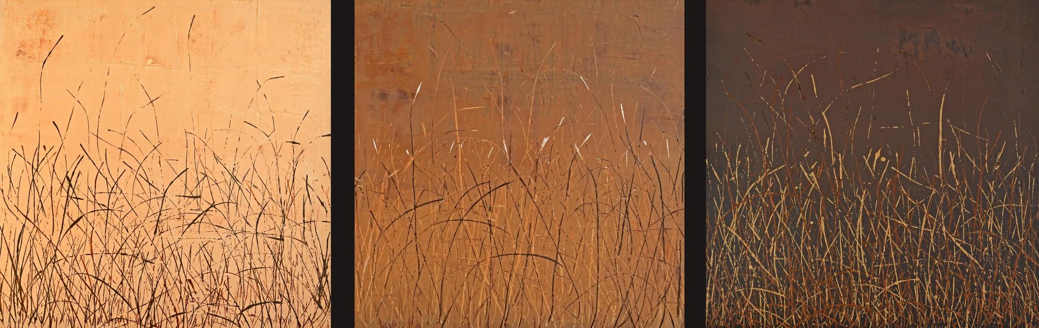 Öl/Lack/Strukturpaste/Leinwand, 50 x 50 cm
