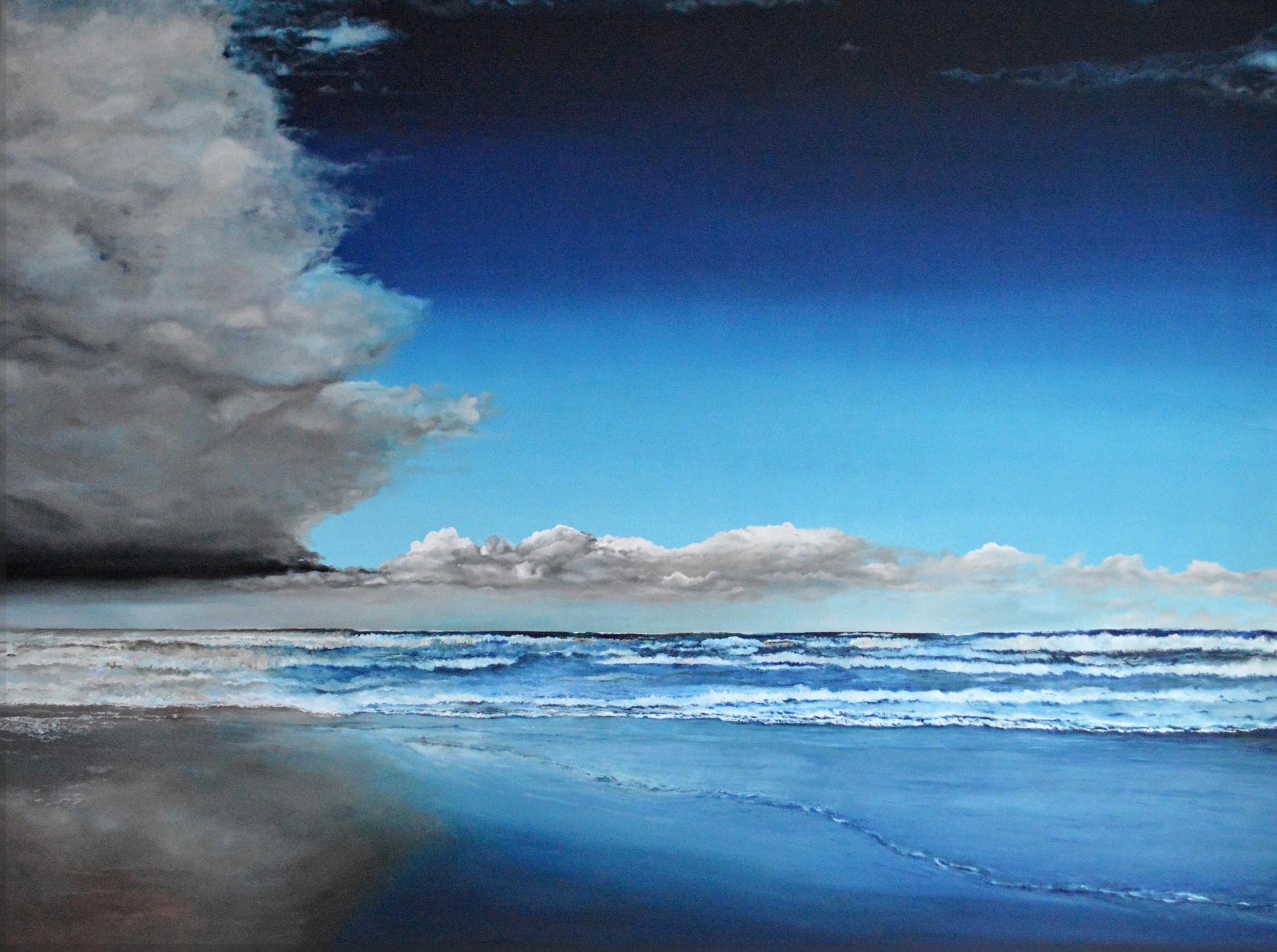 Wolken und Meer, 2014, Öl/Leinwand, 200 x 150 cm
