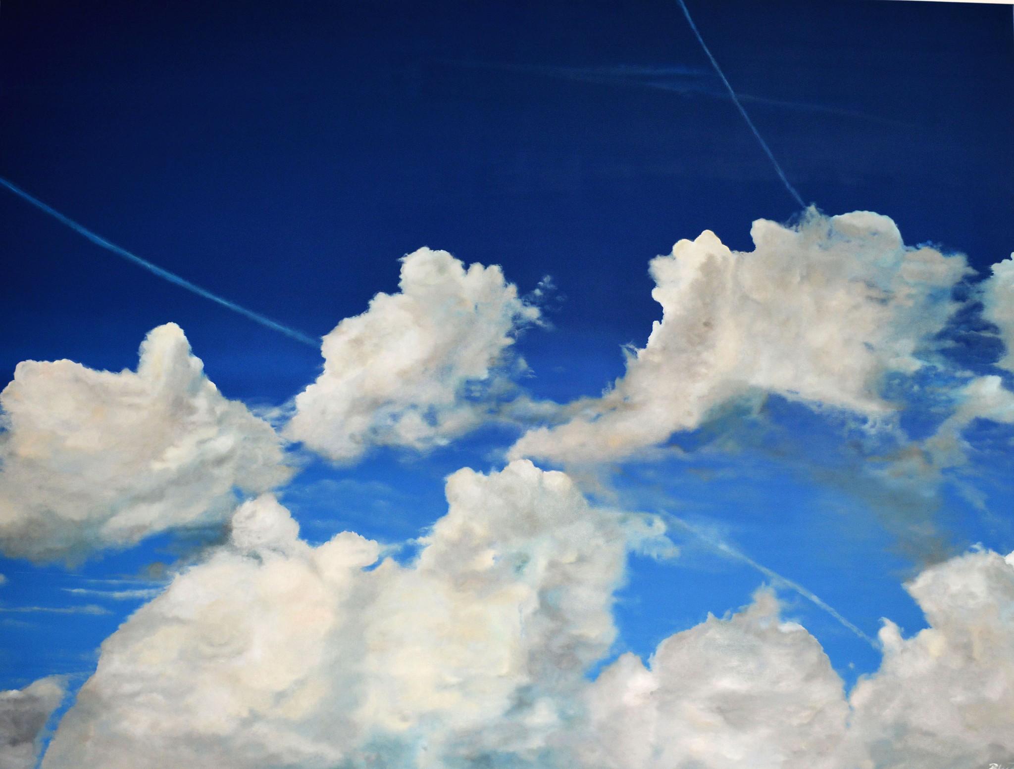 Wolkenblau und Himmelweiß, 2014, Öl/Leinwand, 200 x 150 cm