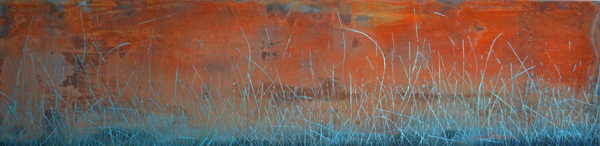 Rost/Lack/Öl/Sand/Leinwand, 160 x 40 cm