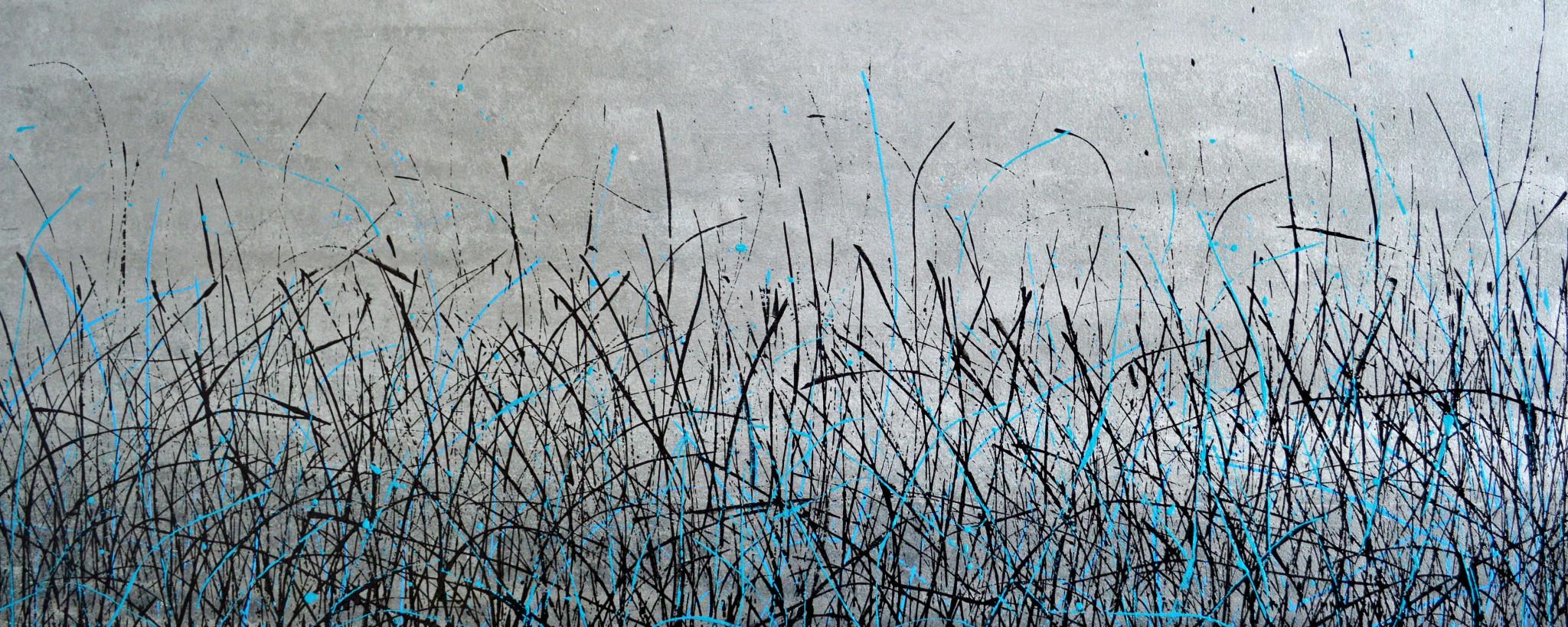 Lack/Leinwand, 120 x 50 cm