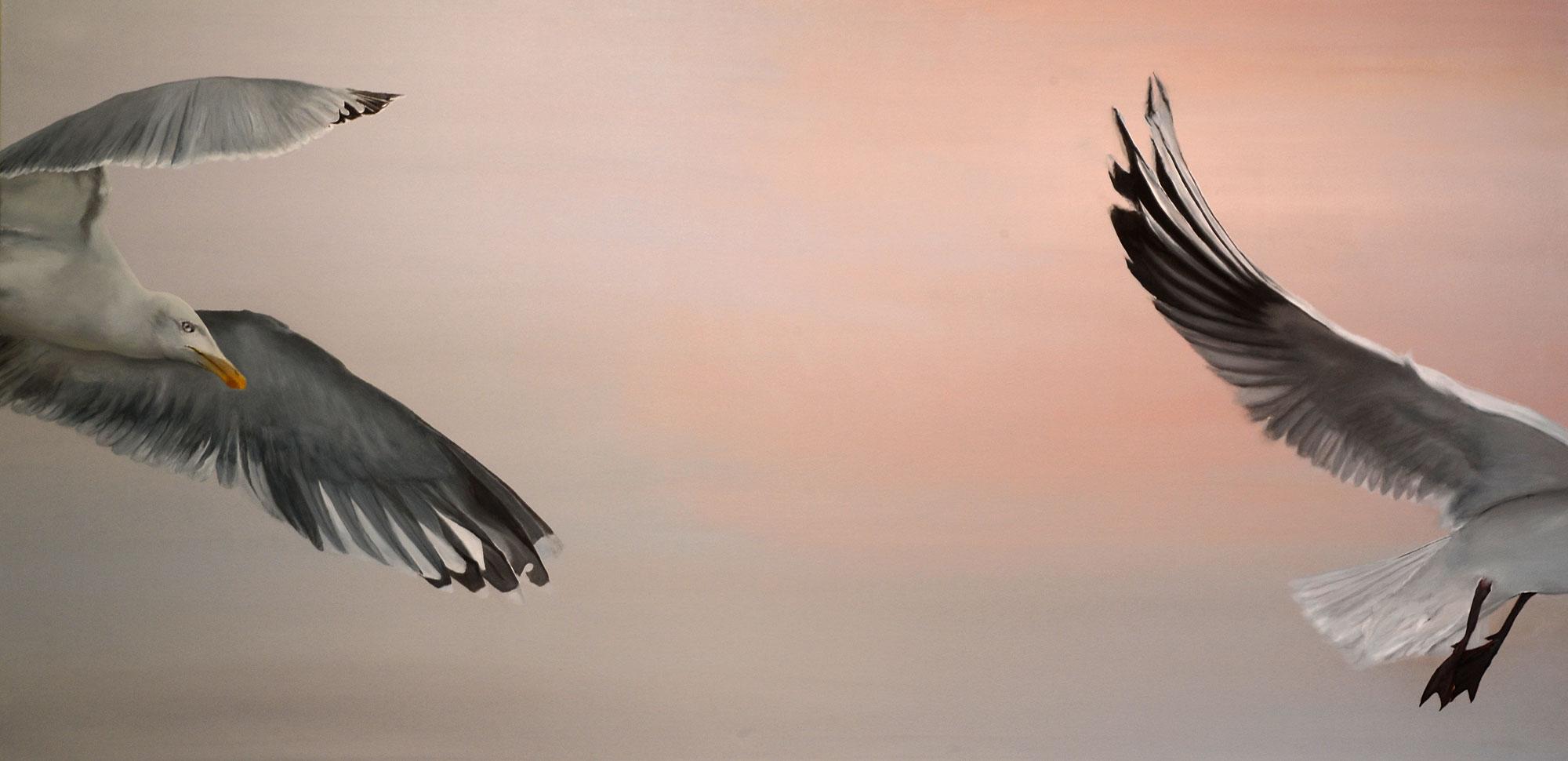 Durchflug, Öl auf Leinwand, 200x100 cm