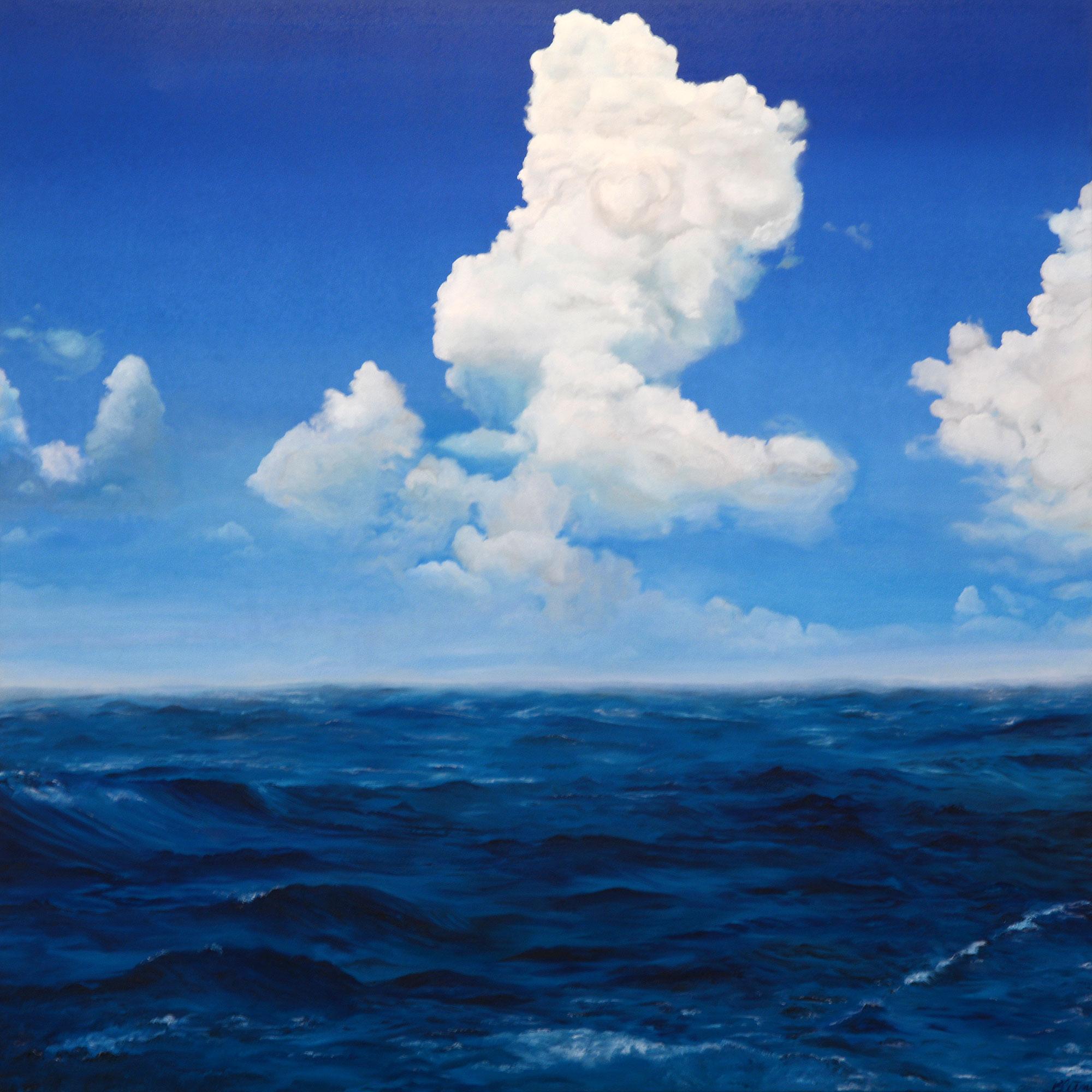 Uferlos, Öl auf Leinwand, 150x150 cm
