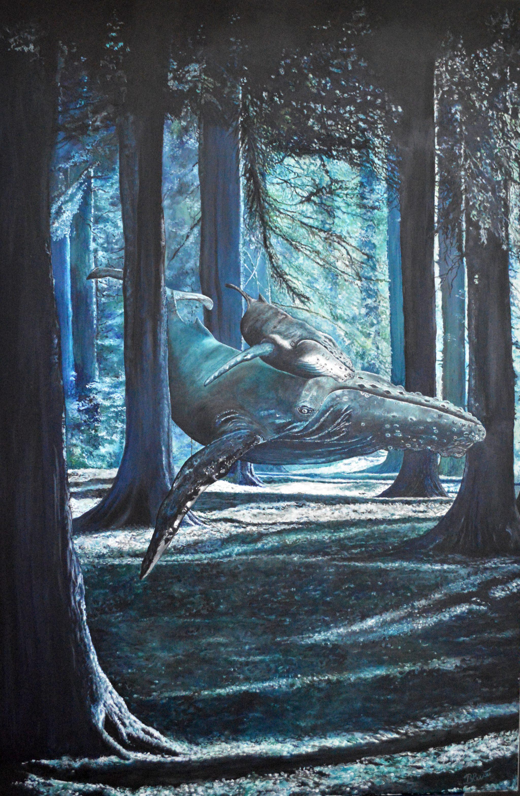 Magic forest, Öl/Leinwand, 150cm x 100cm
