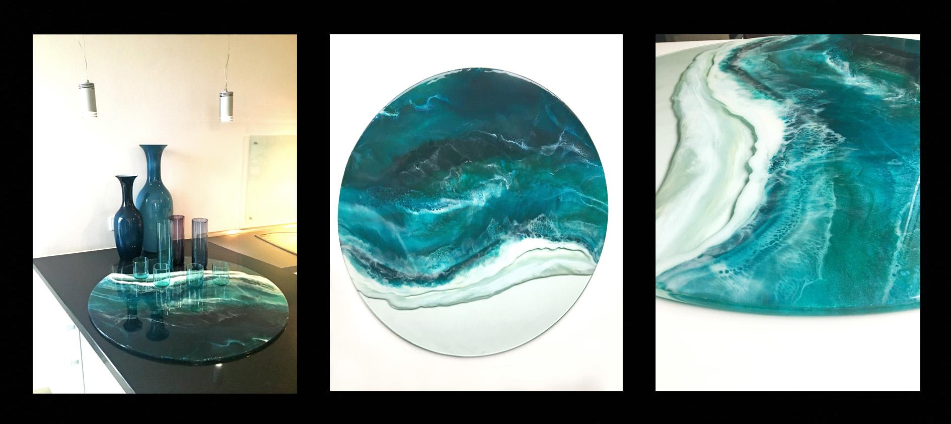 Wave, Resin/Glas, 80cm
